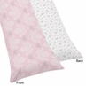 Pink and Gray Alexa Butterfly Full Length Double Zippered Body Pillow Case Cover