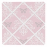 Pink and Gray Alexa Damask Butterfly Fabric Memory/Memo Photo Bulletin Board by Sweet Jojo Designs