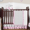 Pink and Gray Kenya Baby Bedding - 11pc Crib Set by Sweet Jojo Designs