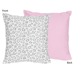 Pink and Gray Kenya Decorative Accent Throw Pillow by Sweet Jojo Designs