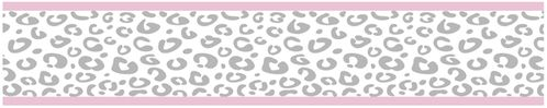Pink and Gray Kenya Kids and Baby Modern Wall Paper Border by Sweet Jojo Designs - Click to enlarge