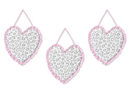 Pink and Gray Kenya Wall Hanging Accessories by Sweet Jojo Designs - Click to enlarge