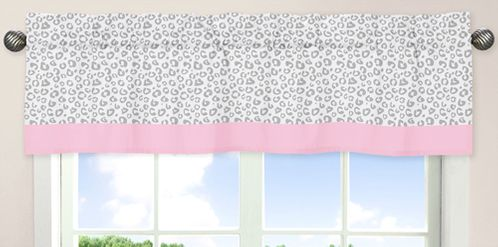 Pink and Gray Kenya�Window Valance by Sweet Jojo Designs - Click to enlarge