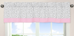 Pink and Gray Kenya Window Valance by Sweet Jojo Designs