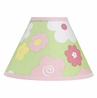 Pink and Green Blossom Lamp Shade by Sweet Jojo Designs