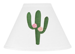Pink and Green Boho Lamp Shade for Cactus Floral Collection by Sweet Jojo Designs