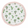 Pink and Green Boho Watercolor Playmat Tummy Time Baby and Infant Play Mat for Cactus Floral Collection by Sweet Jojo Designs