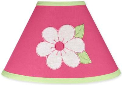 Pink and Green Flower Lamp Shade by Sweet Jojo Designs - Click to enlarge