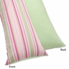 Pink and Green Jungle Friends Full Length Double Zippered Body Pillow Case Cover by Sweet Jojo Designs