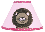 Pink and Green Jungle Friends Lamp Shade by Sweet Jojo Designs