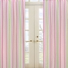Pink and Green Jungle Friends Stripe Window Treatment Panels - Set of 2