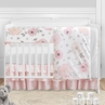 Pink and Grey Watercolor Floral Baby Girl Nursery Crib Bedding Set by Sweet Jojo Designs - 5 pieces - Blush Gray and White Shabby Chic Rose Flower Polka Dot