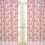 Pink and Khaki Camo Window Treatment Panels - Set of 2