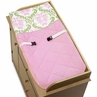 Pink and Lime Juliet Baby Changing Pad Cover by Sweet Jojo Designs