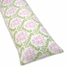 Pink and Lime Juliet Full Length Double Zippered Body Pillow Case Cover