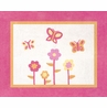 Pink and Orange Butterfly Accent Floor Rug