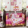 Pink and Orange Butterfly Baby Bedding - 9 pc Crib Set
