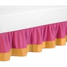 Pink and Orange Butterfly Queen Bed Skirt by Sweet Jojo Designs