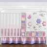 Pink and Purple Butterfly Baby Bedding - 11pc Crib Set