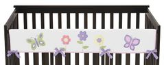 Pink and Purple Butterfly Baby Crib Long Rail Guard Cover by Sweet Jojo Designs