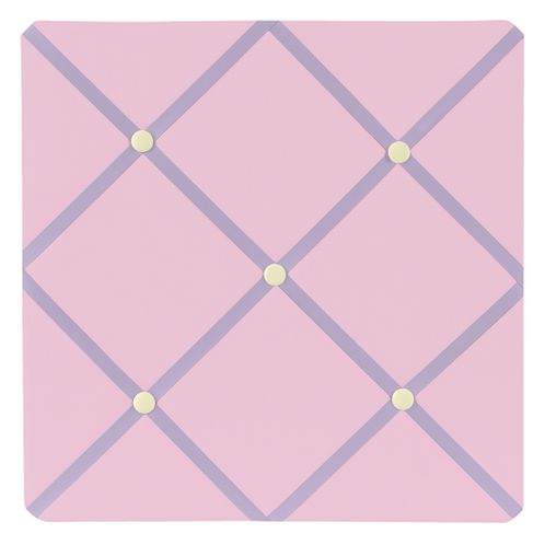 Pink and Purple Butterfly Fabric Memory/Memo Photo Bulletin Board - Click to enlarge