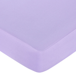 Pink and Purple Butterfly Fitted Crib Sheet for Baby and Toddler Bedding Sets by Sweet Jojo Designs - Solid Purple