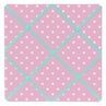 Pink and Turquoise Skylar Fabric Memory/Memo Photo Bulletin Board