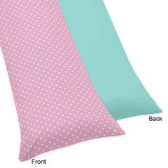 Pink and Turquoise Skylar Full Length Double Zippered Body Pillow Case Cover