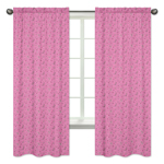 Pink Bandana Window Treatment Panels for Western Cowgirl Collection by Sweet Jojo Designs - Set of 2