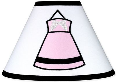 Pink, Black and White Princess Lamp Shade by Sweet Jojo Designs - Click to enlarge