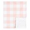 Pink Buffalo Plaid Check Baby Girl Blanket Receiving Security Swaddle for Newborn or Toddler Nursery Car Seat Stroller Soft Minky by Sweet Jojo Designs - Blush and White Shabby Chic Woodland Rustic Country Farmhouse