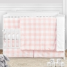 Pink Buffalo Plaid Check Baby Girl Nursery Crib Bedding Set by Sweet Jojo Designs - 5 pieces - Blush and White Shabby Chic Woodland Rustic Country Farmhouse