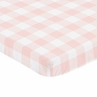 Pink Buffalo Plaid Check Girl Fitted Mini Crib Sheet Baby Nursery by Sweet Jojo Designs For Portable Crib or Pack and Play - Blush and White Shabby Chic Woodland Rustic Country Farmhouse