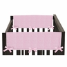 Pink Chenille and Satin Baby Crib Side Rail Guard Covers by Sweet Jojo Designs - Set of 2