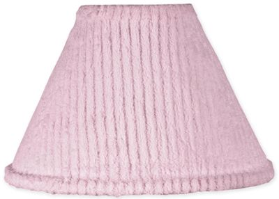 Pink Chenille and Satin Girls Lamp Shade - Click to enlarge