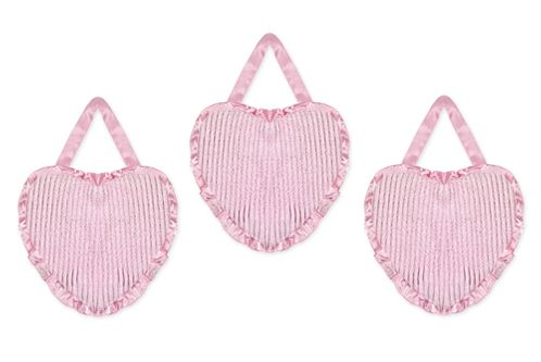 Pink Chenille and Satin Girls Wall Hangings - Click to enlarge