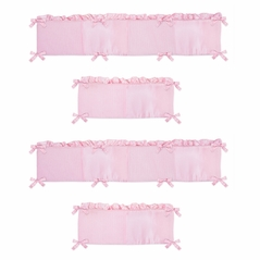 Pink Chenille Collection Crib Bumper by Sweet Jojo Designs
