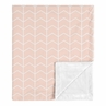 Pink Chevron Arrow Baby Girl Blanket Receiving Security Swaddle for Newborn or Toddler Nursery Car Seat Stroller Soft Minky by Sweet Jojo Designs - Blush and White for the Watercolor Elephant Safari Collection