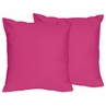 Pink Decorative Accent Throw Pillows for Chevron Collection - Set of 2