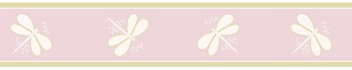 Pink Dragonfly Dreams Baby and Kids Wall Border by Sweet Jojo Designs - Click to enlarge