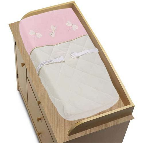 Pink Dragonfly Dreams Changing Pad Cover - Click to enlarge