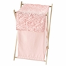 Pink Floral Rose Baby Kid Clothes Laundry Hamper by Sweet Jojo Designs - Solid Light Blush Flower Luxurious Elegant Princess Vintage Boho Shabby Chic Luxury Glam High End Roses