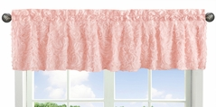 Pink Floral Rose Window Treatment Valance by Sweet Jojo Designs - Solid Light Blush Flower Luxurious Elegant Princess Vintage Boho Shabby Chic Luxury Glam High End Roses