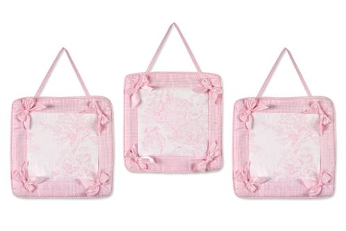 Pink French Toile Wall Hangings - Click to enlarge