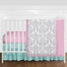 Pink, Gray and Turquoise Skylar Baby Bedding - 11pc Girls Crib Set by Sweet Jojo Designs