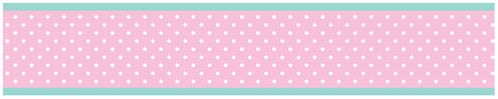 Pink, Gray and Turquoise Skylar Childrens and Kids Modern Wall Paper Border - Click to enlarge
