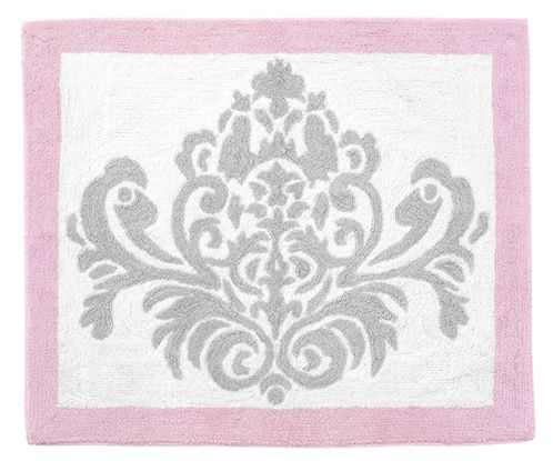 Pink, Gray and White Elizabeth Accent Floor Rug by Sweet Jojo Designs - Click to enlarge
