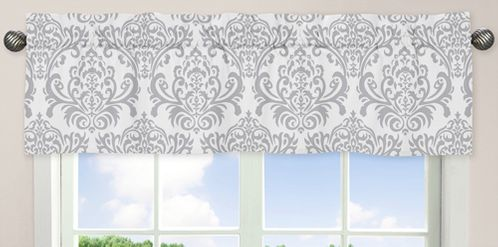 Pink, Gray and White Elizabeth�Window Valance by Sweet Jojo Designs - Click to enlarge