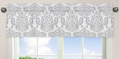 Pink, Gray and White Elizabeth Window Valance by Sweet Jojo Designs