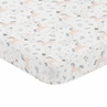 Pink, Grey and Gold Baby Fitted Mini Portable Crib Sheet for Unicorn Collection by Sweet Jojo Designs